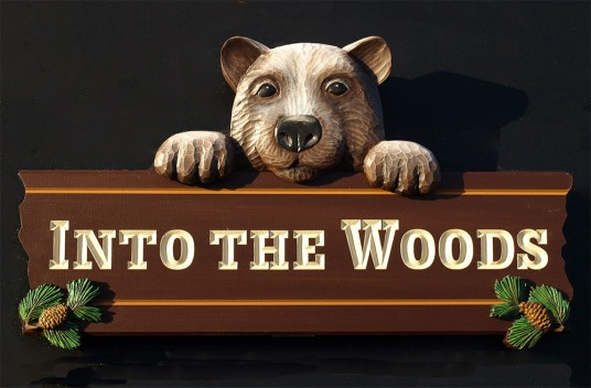 Into the Woods Sign