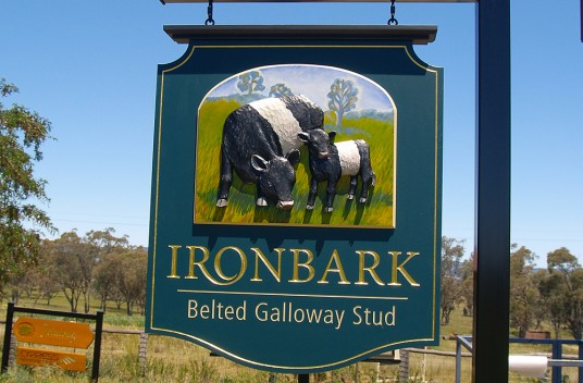 Ironbark Farm Animal Sign
