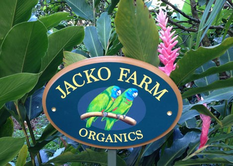 Jacko Farm Organics Sign