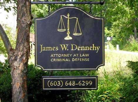James W. Dennehy Law Office Sign