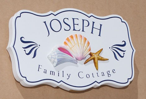 Joseph Ocean Cottage Sign