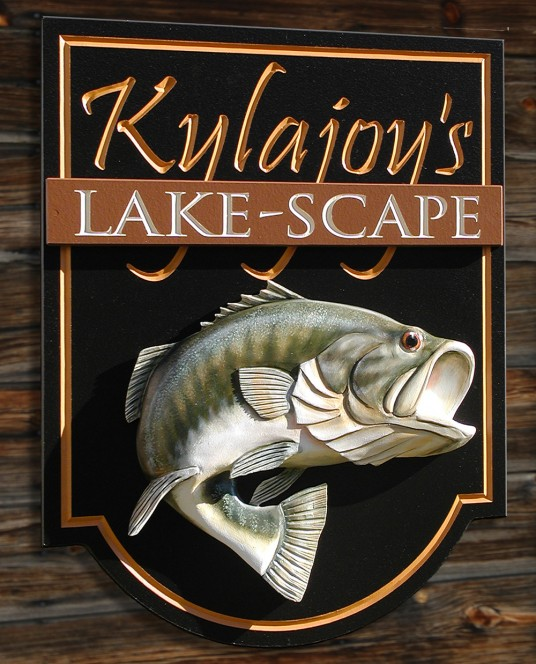 Kylajoy's Lakescape Lake House Sign