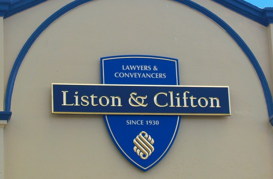 Liston & Clifton Lawyers Sign
