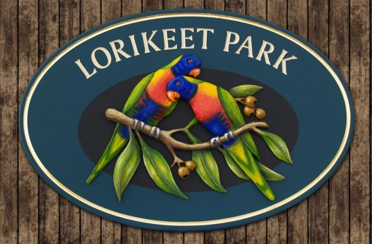 Lorikeet Park Property Sign