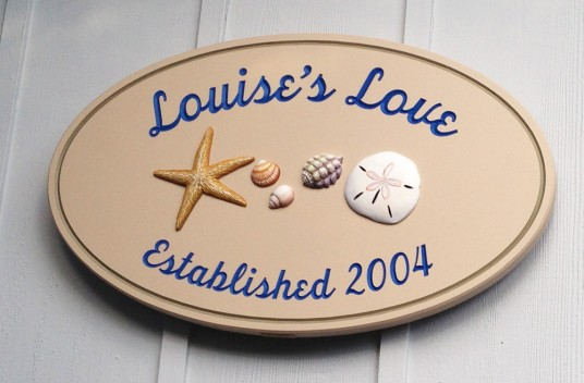 Louise's Love Beach House Sign