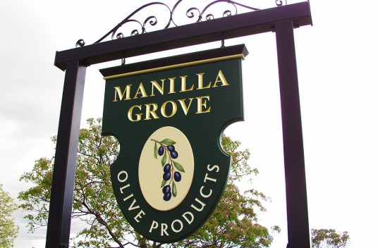 Manillla Grove Business Sign