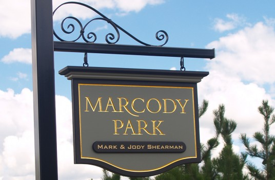 Marcody Park Hanging Sign