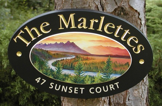 Marlettes Family Name Sign