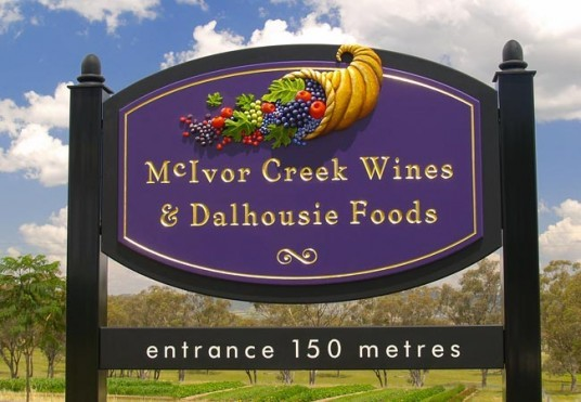 McIvor Creek Winery Sign