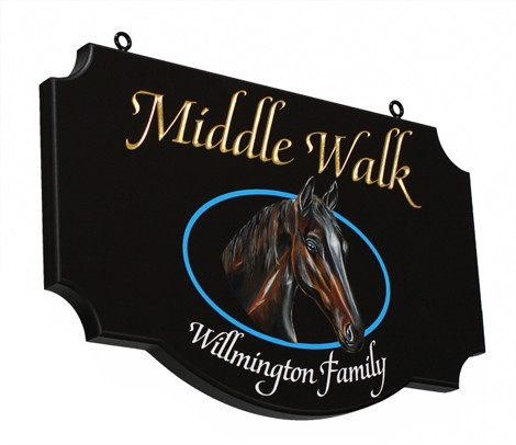 Middle Walk Horse Sign