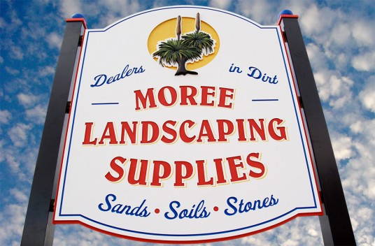 Moree Landscaping Business Sign