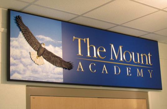The Mount Academy Sign