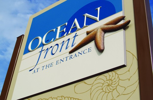 Ocean Front Club Sign Entrance