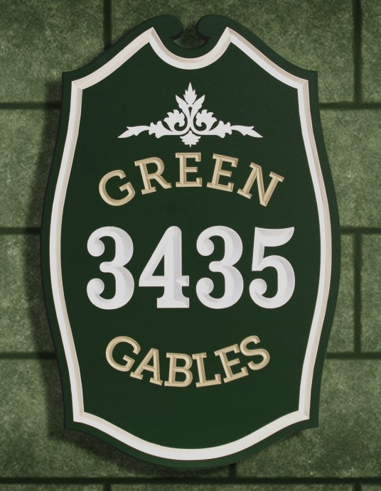 Green Gables House Sign | Danthonia Designs