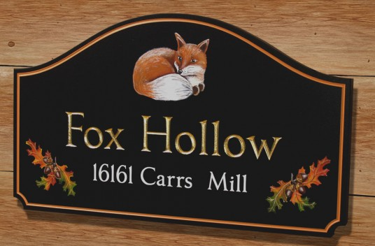 Fox Hollow Property Sign | Danthonia Designs