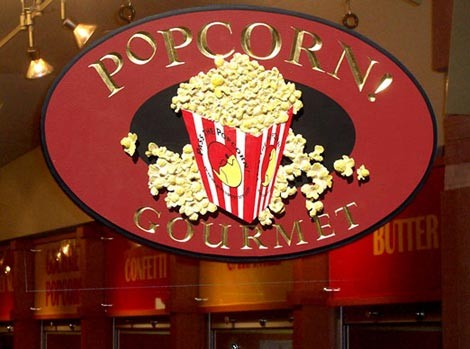 Popcorn Gourmet Retail Sign