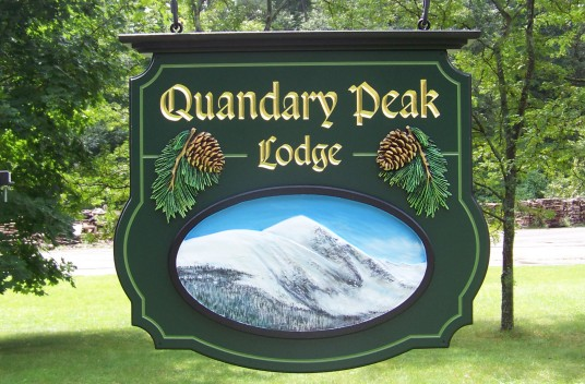 Quandary Park Lodge Sign