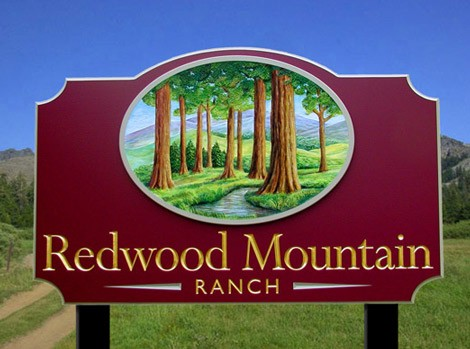 Redwood Mountain Ranch Farming Sign