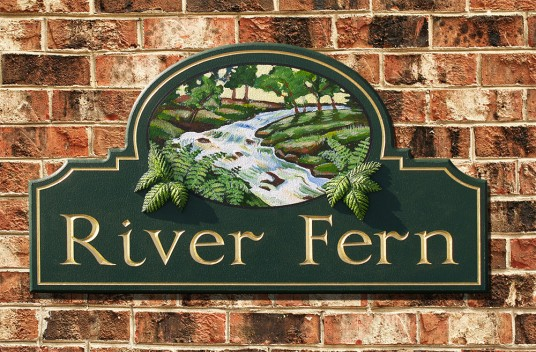 River Fern House Sign