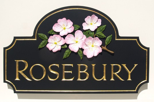 Rosebury House Sign