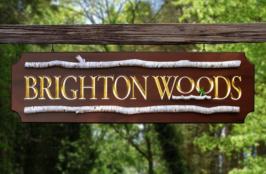 Brighton Woods Property Sign