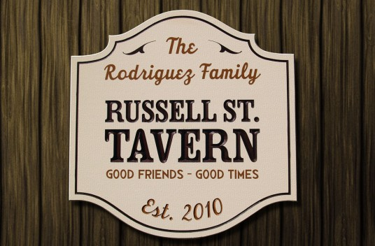 Russell St. Tavern Sign