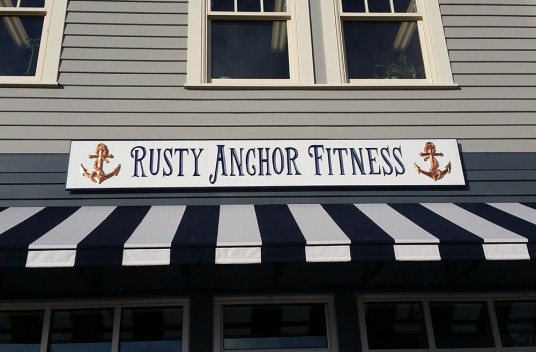 Rusty Anchor Fitness Wall Sign