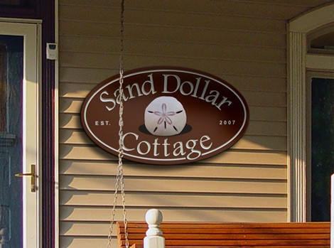 The Sand Dollar Cottage Property Sign