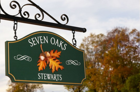 Seven Oaks House Name Sign
