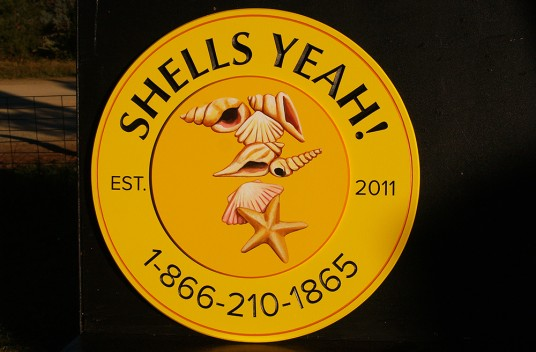 Shells Yeah! Beach House Sign