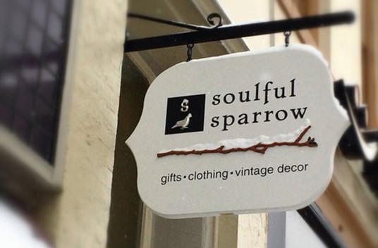 Soulful Sparrow Retail Sign