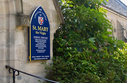 St. Mary the Virgin Church Sign