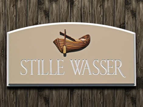 Stille Wasser House Sign