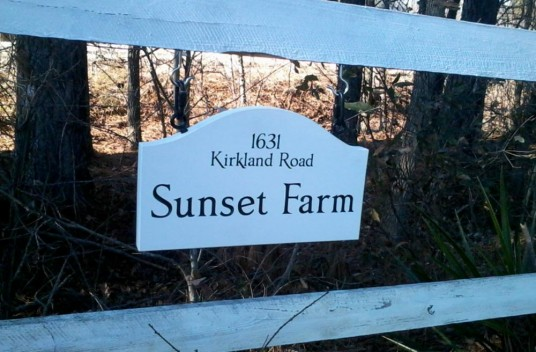 Sunset Farm Sign