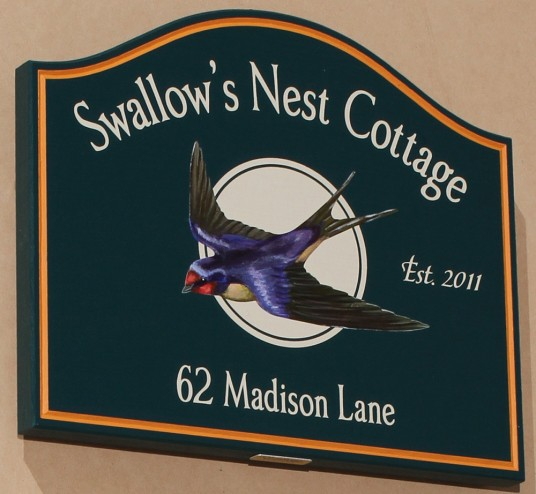 Swallow's Nest Cottage Sign