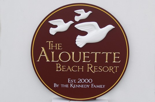 Alouette Beach Resort Sign