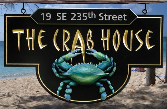 The Crab House Beach House Sign