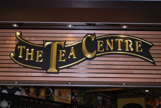 The Tea Centre Sign on location