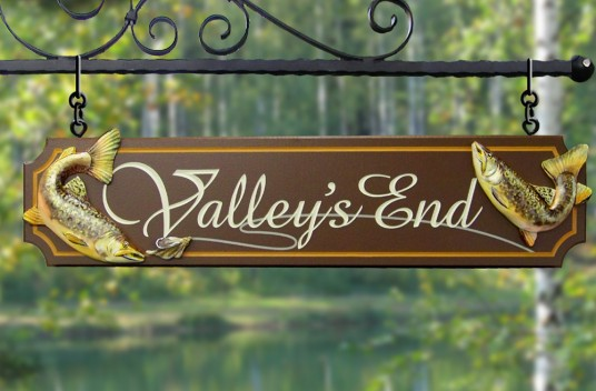 Valley's End Fishing Sign