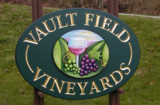 Vault Fields Vineyards Sign