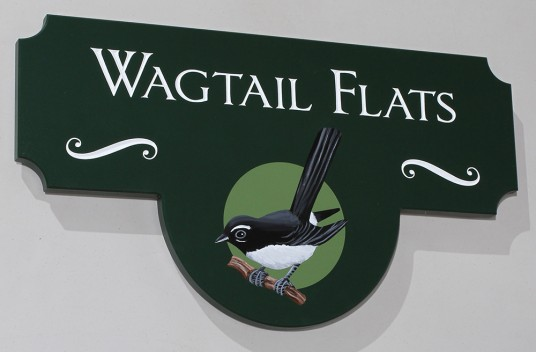 Wagtail Flats Property Sign