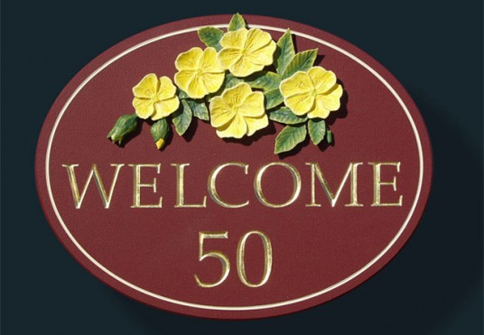 Welcome House Sign