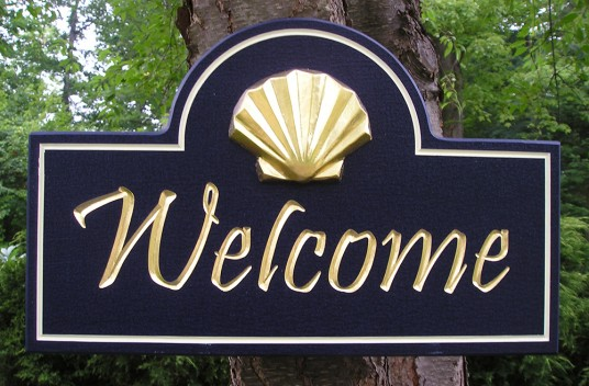 Shell Welcome Sign