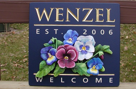 Wenzel Welcome Sign