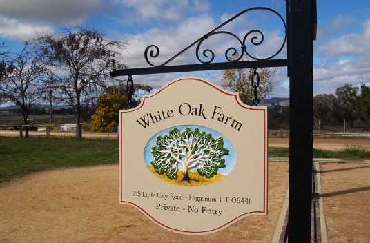 White Oak Farm Sign