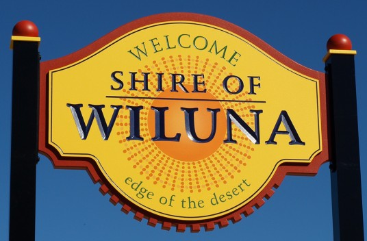Wiluna Town Entry Sign