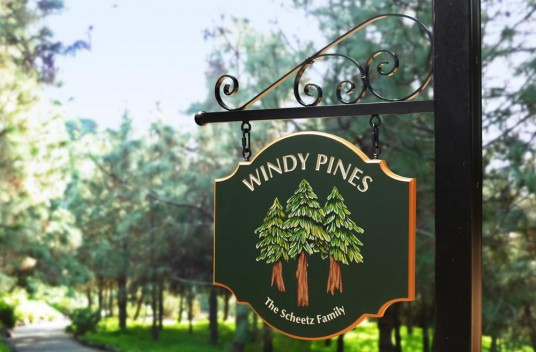 Windy Pines House Sign