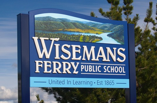Wisemans Ferry School Welcome Sign