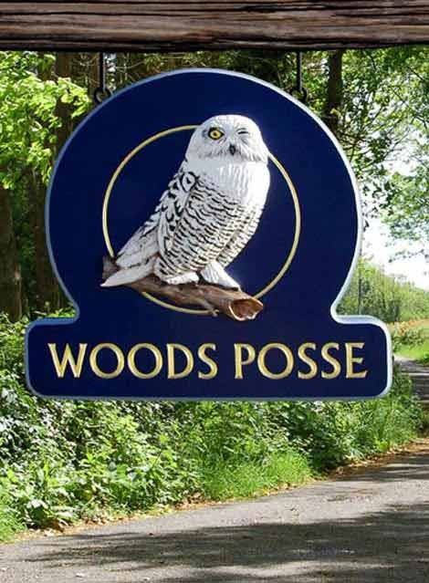 Woods Posse Sign