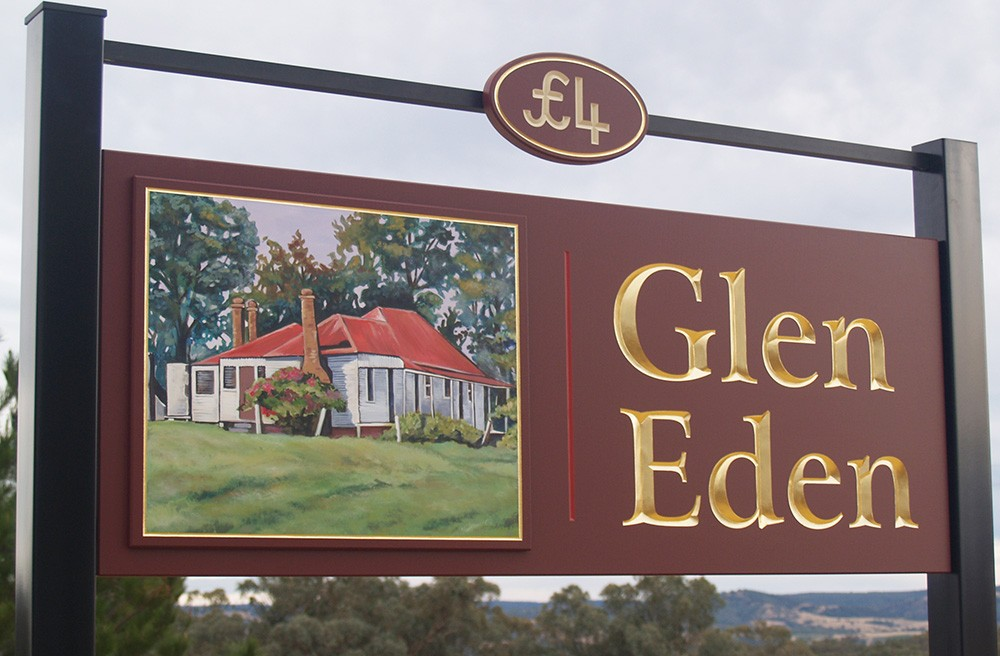 Glen Eden Property Sign Danthonia Designs Usa